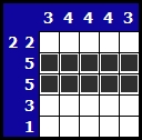 Solve a hanjie picross puzzle, exemple 2