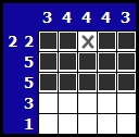 Solve a hanjie picross puzzle, exemple 3