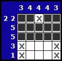 Résoudre un hanjie picross, exemple 4