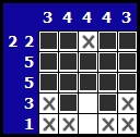 Solve a hanjie picross puzzle, exemple 5