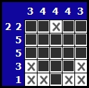 Solve a hanjie picross puzzle, exemple 6
